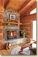 handicap accessible cabin with fireplace in maggie valley nc