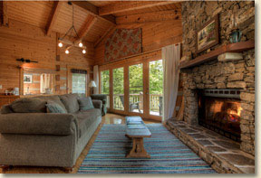nc cabin rental with fireplace