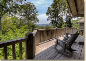 smoky mountain cabin rental with great views