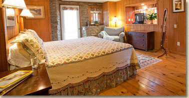 guest room in cataloochee ranch main lodge in nc mountains