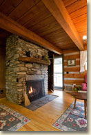 cabin with fireplace in smoky mountains nc