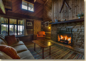 guest room in smoky mountain lodge in nc
