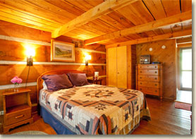 guest room in rustic lodge in smoky  mountains nc